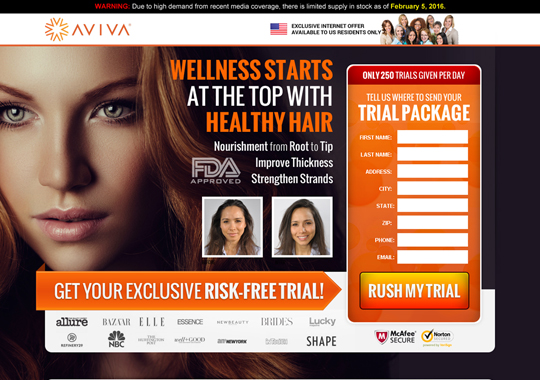 hair fall trial offer  example