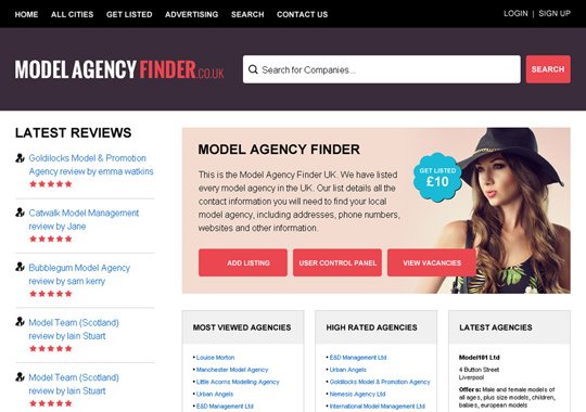 model agency finder  example