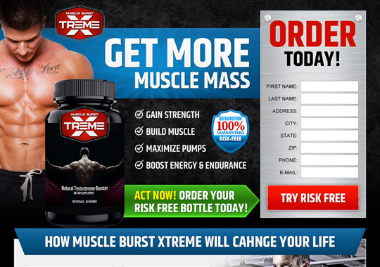 muscle building product  example