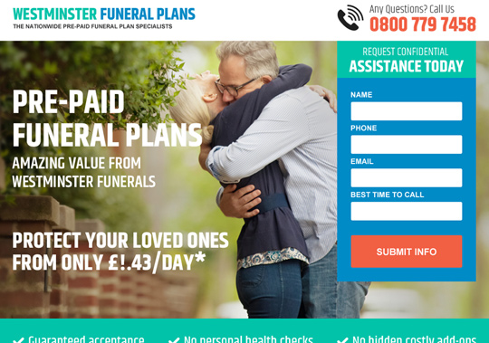 funeral plans  example