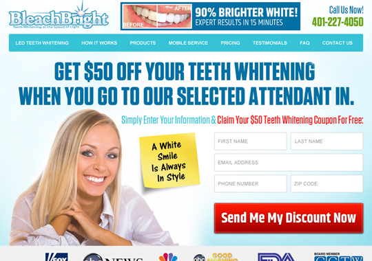 teeth whitening specialist  example