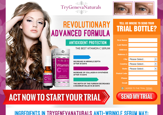 anti wrinkle serum  example