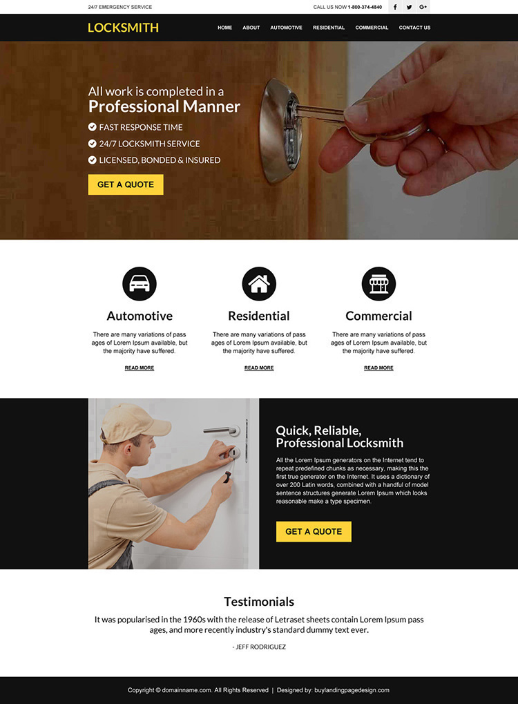 24 hour locksmith services responsive website design