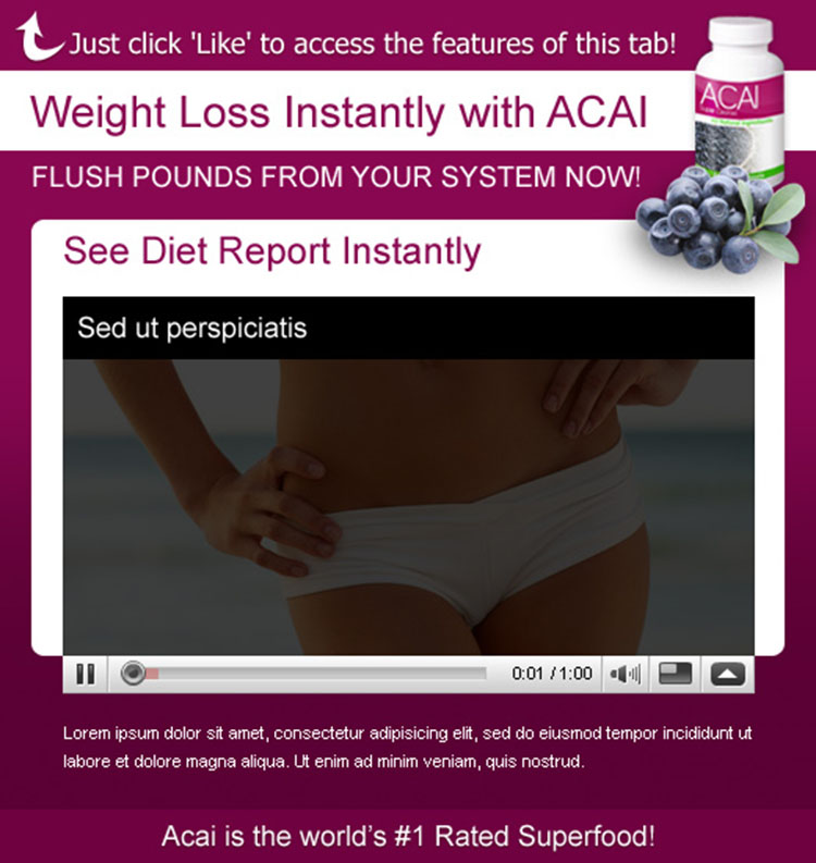 acai berry weight loss attractive and effective html templates