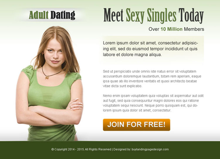 adult dating call to action ppv landing page design