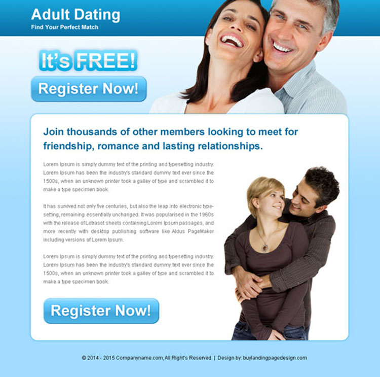 adult dating call to action ppv landing page
