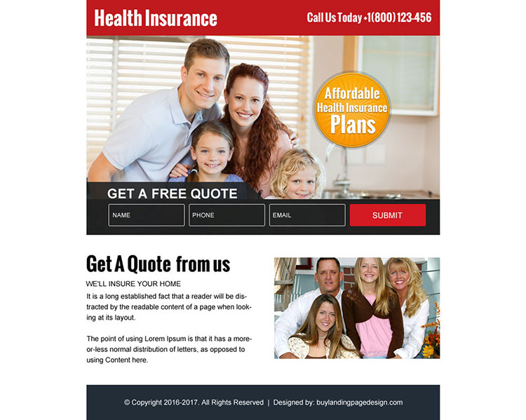 affordable health insurance plans ppv landing page