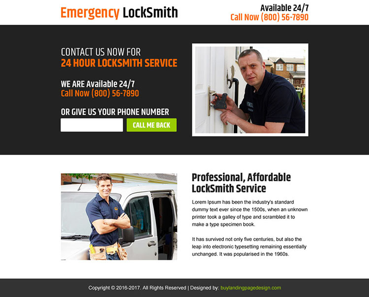 affordable locksmith services ppv landing page