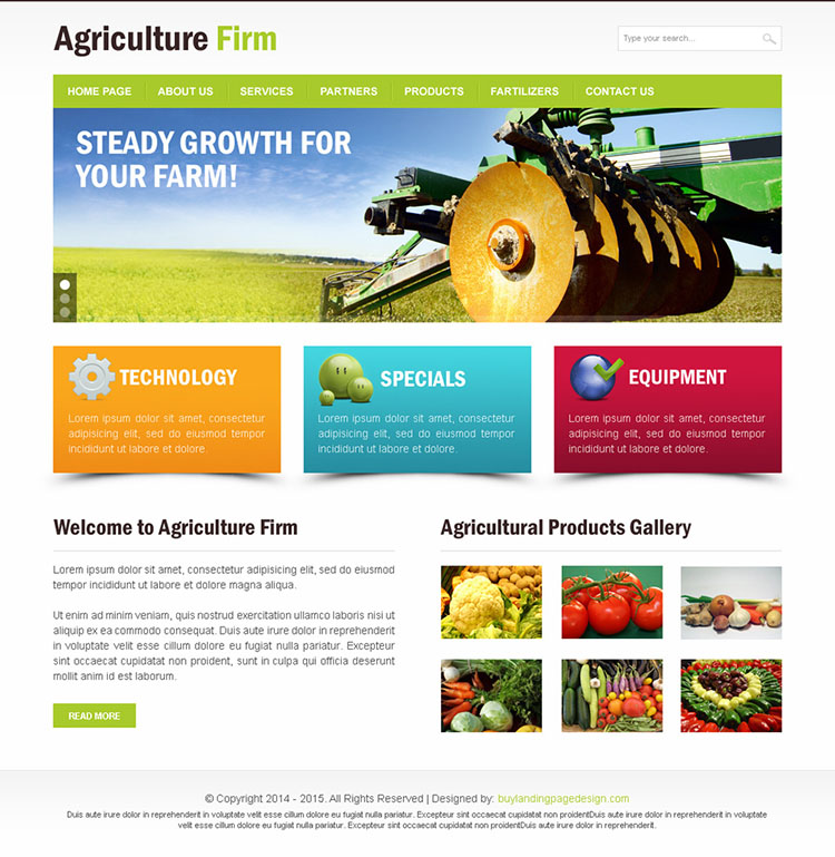 agriculture firm clean and effective html website template