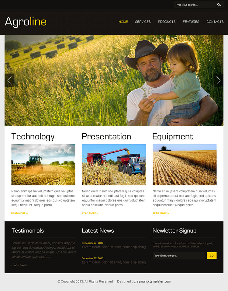 Agriculture Html Website Design 002 Agriculture Website Design Preview