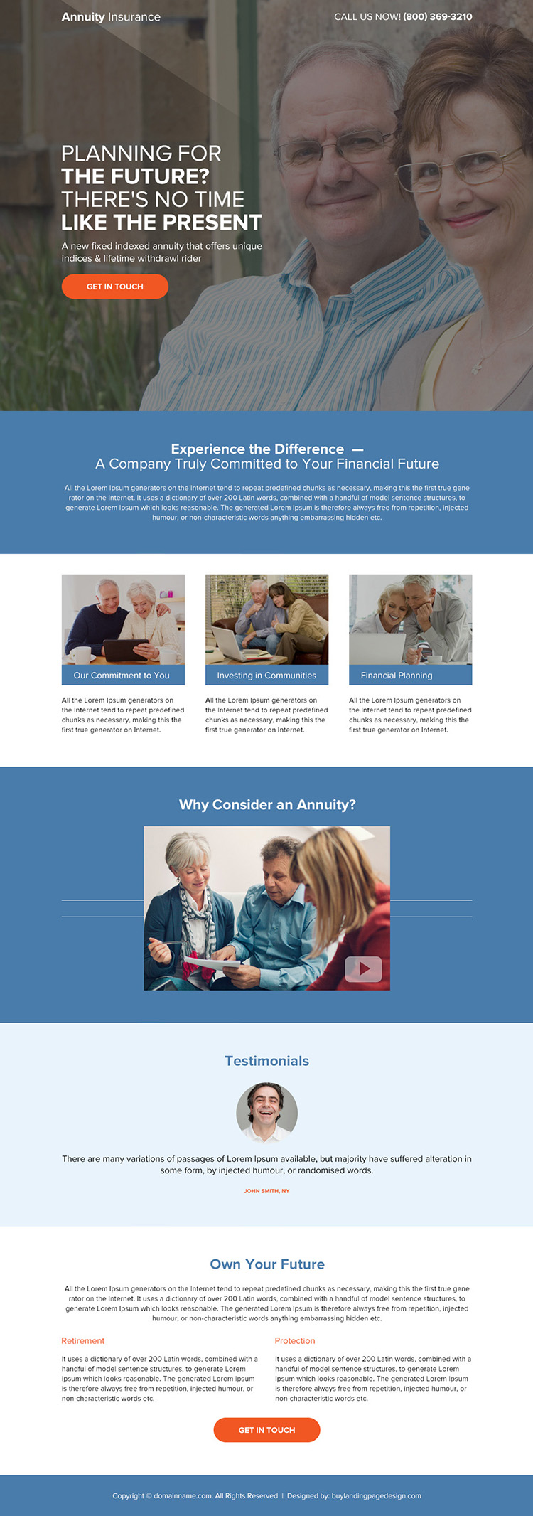 annuity insurance planning bootstrap landing page