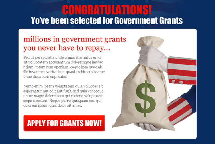 apply for government grants appealing ppv landing page design