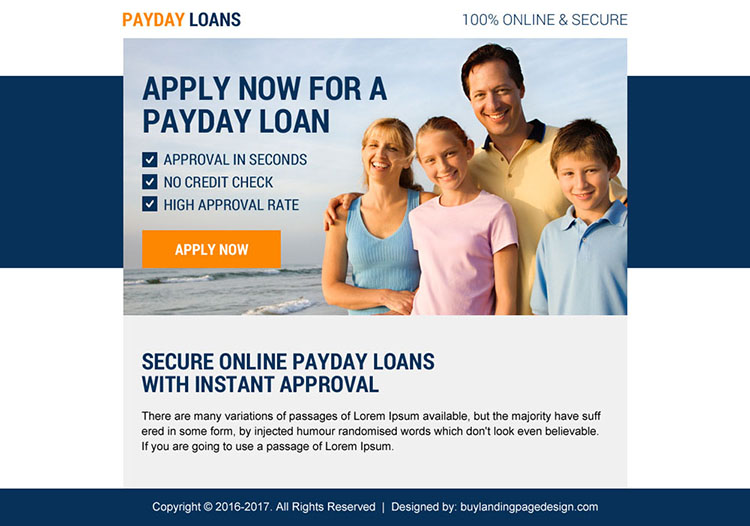 effective payday loan ppv landing page design