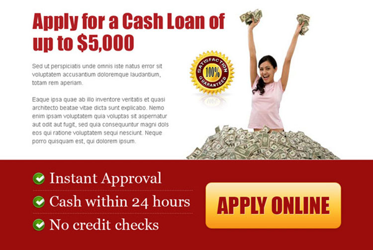 apply for a cash loan effective call to action ppv lander design template