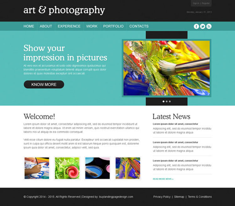 attractive and easy to use art and photography design psd