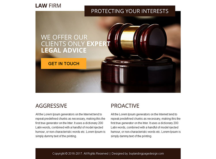 legal advice converting ppv landing page design