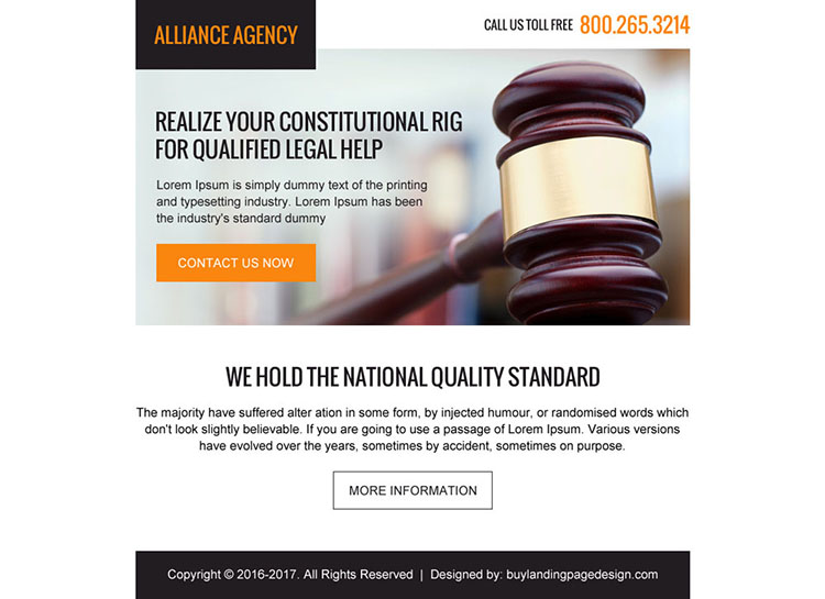 attorney and lawyer agencies ppv landing page
