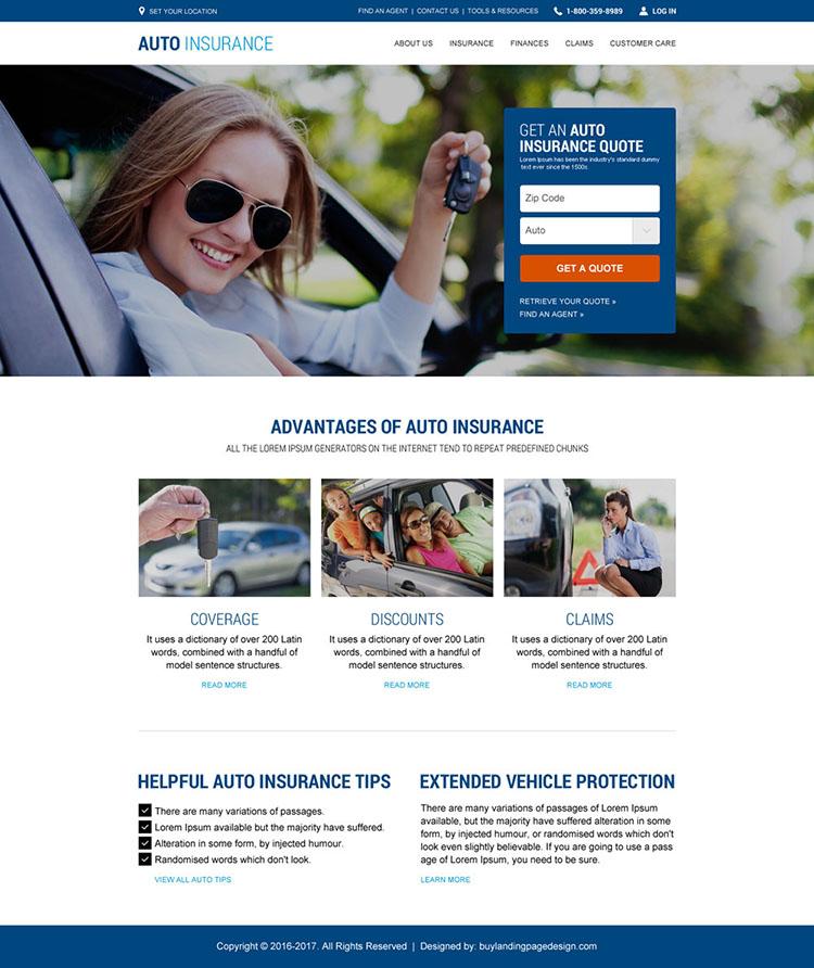 auto insurance html website template design