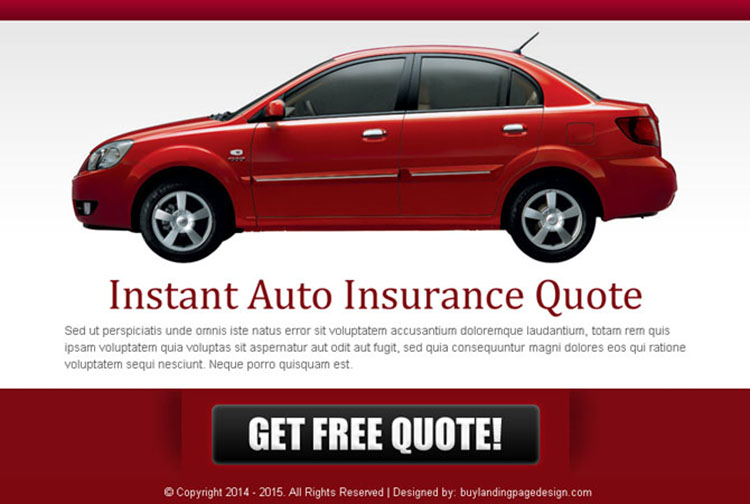 Free Insurance Quote Simple Auto Insurance Free Quote Effective Ppv Lander Design Auto Insurance