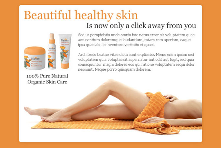 beautiful and healthy skin care product ppv landing page