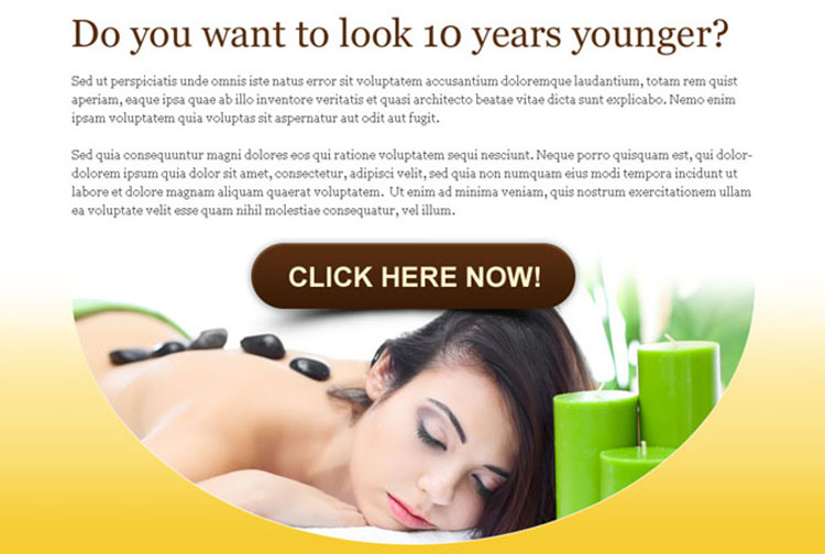 want to look 10 years younger beauty product ppv lander design