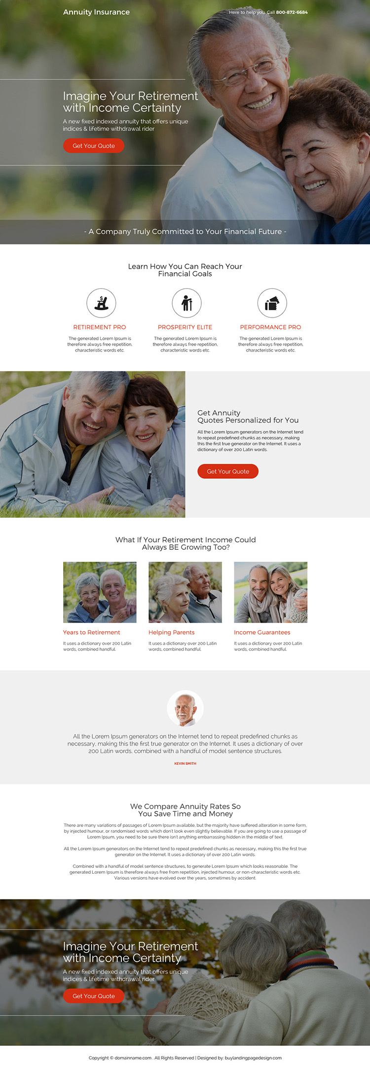 best annuity insurance quotes responsive landing page