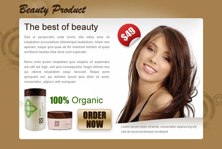 best beauty product order now ppv landing page design
