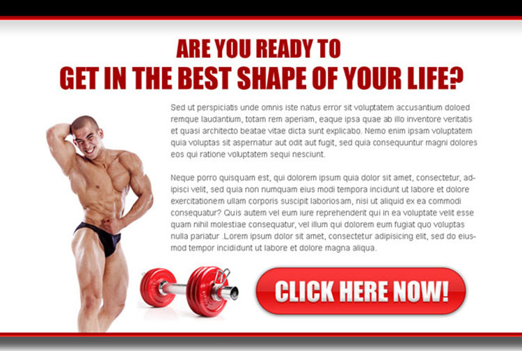 get the best shape of your body ppv landing page design