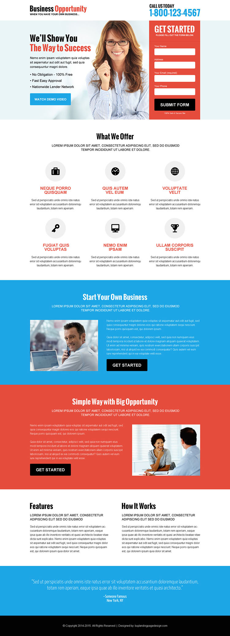 best business marketing lead gen responsive landing page design
