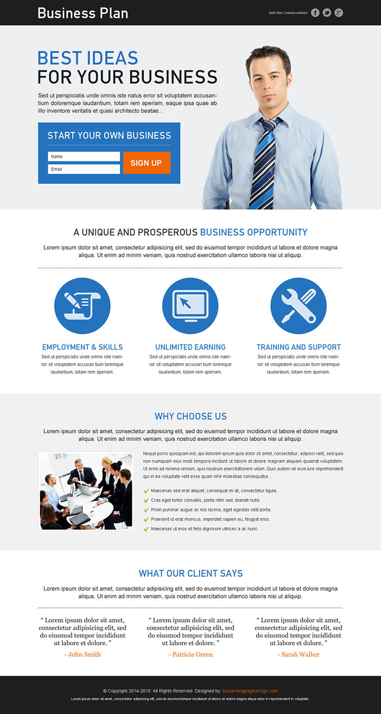 best ideas for your business small lead capture clean landing page design