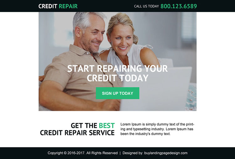 best credit repair service ppv landing page design