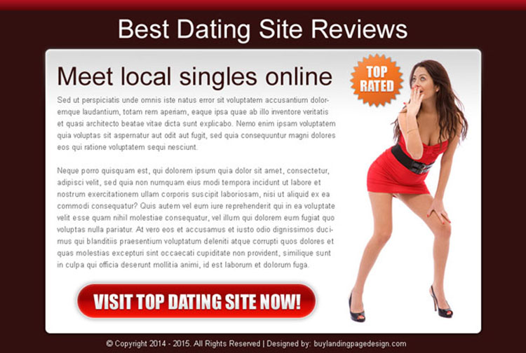 best dating sites review appealing and converting call to action landing page design