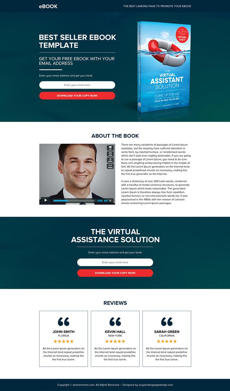 ebook selling best responsive landing page design