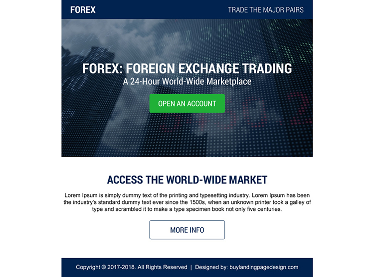 best foreign exchange trading ppv landing page