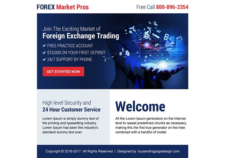 best forex exchange trading ppv landing page