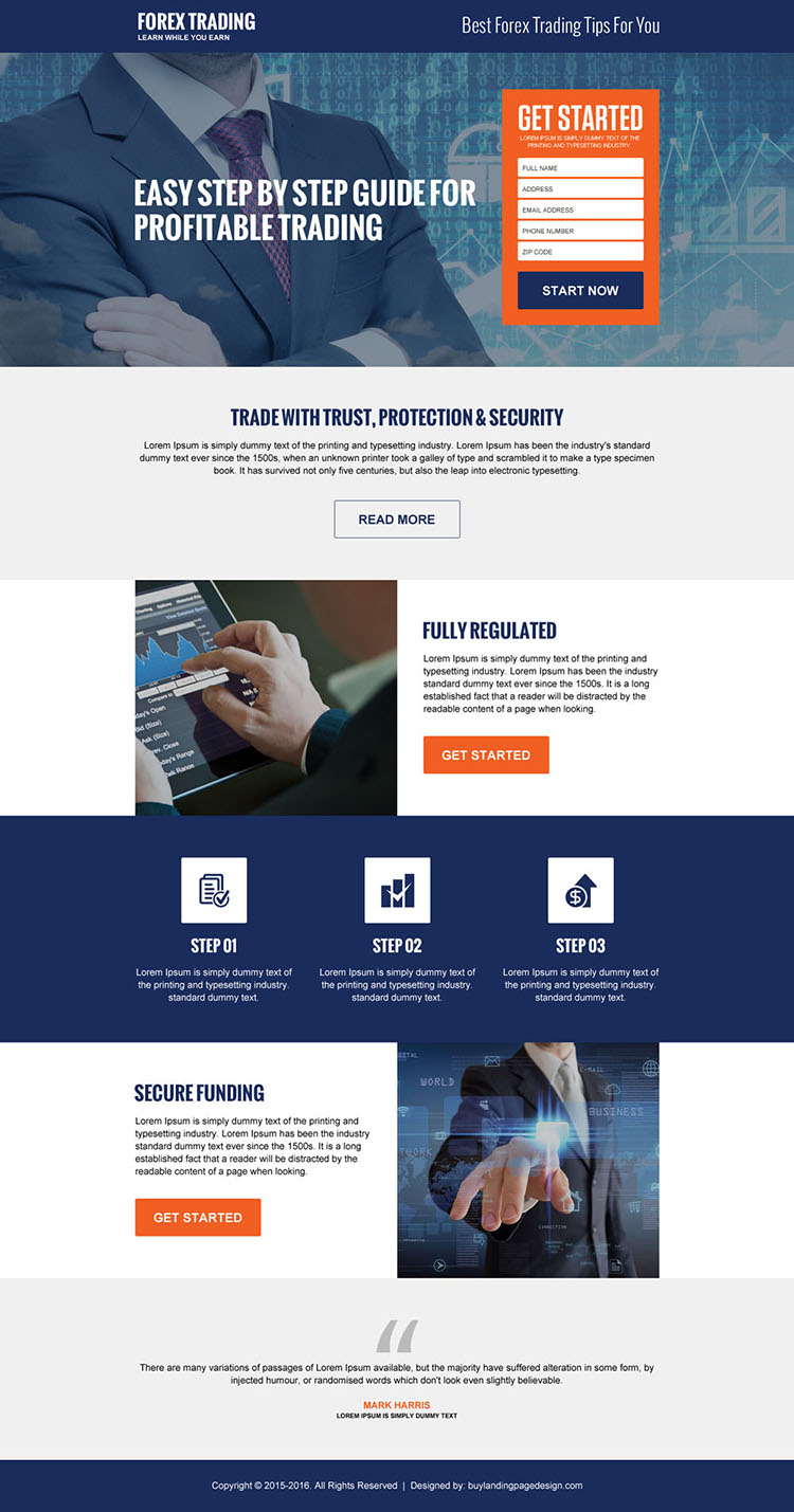 best forex trading tips guide responsive landing page