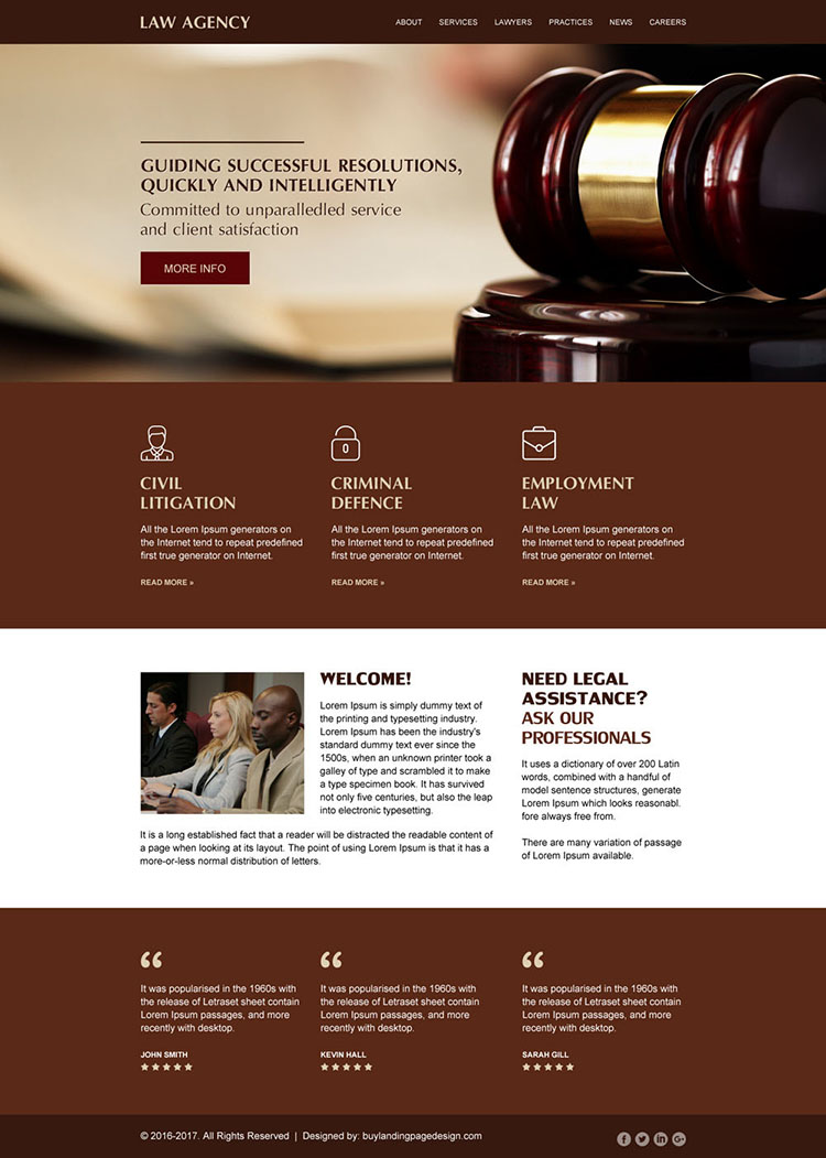 best law firm modern and clean website design