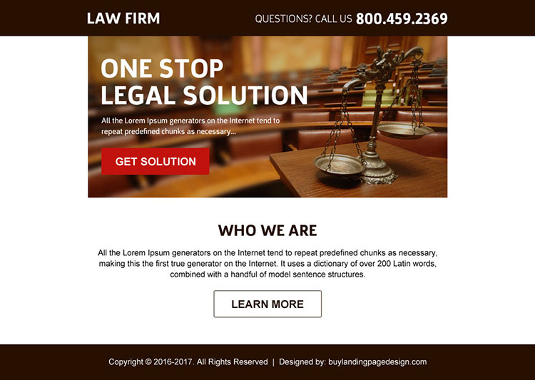 best law firm call to action ppv landing page design