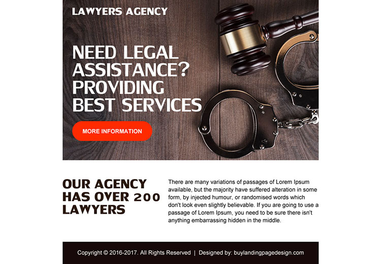 best lawyers agency ppv landing page design