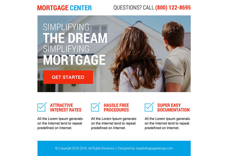 best mortgage center ppv landing page design
