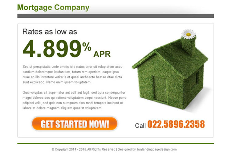mortgage company clean and effective ppv lander design