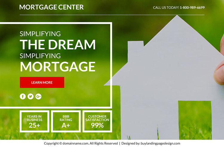 best mortgage marketing sales funnel responsive landing page design