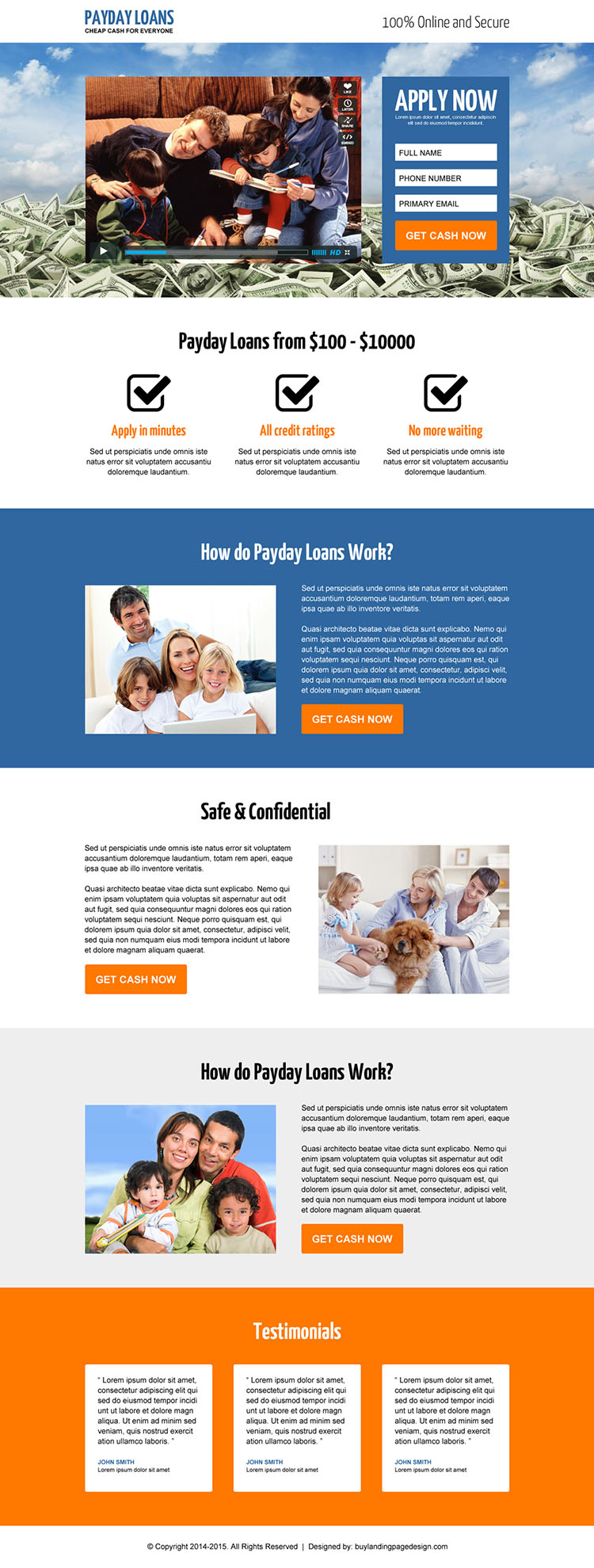best payday loan video landing page 21 payday loan landing page design preview. Black Bedroom Furniture Sets. Home Design Ideas