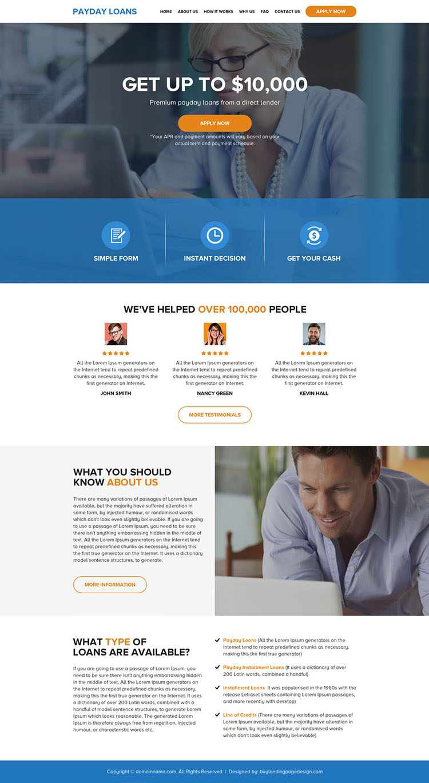 best payday loans online application website design