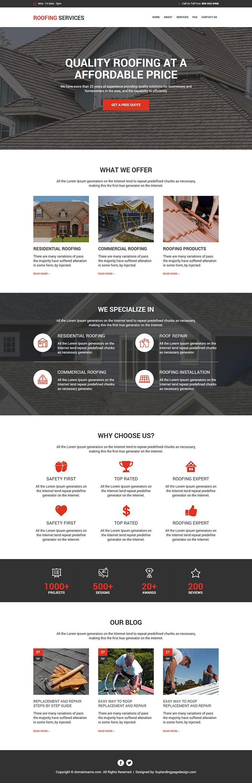 best roofing services responsive website design