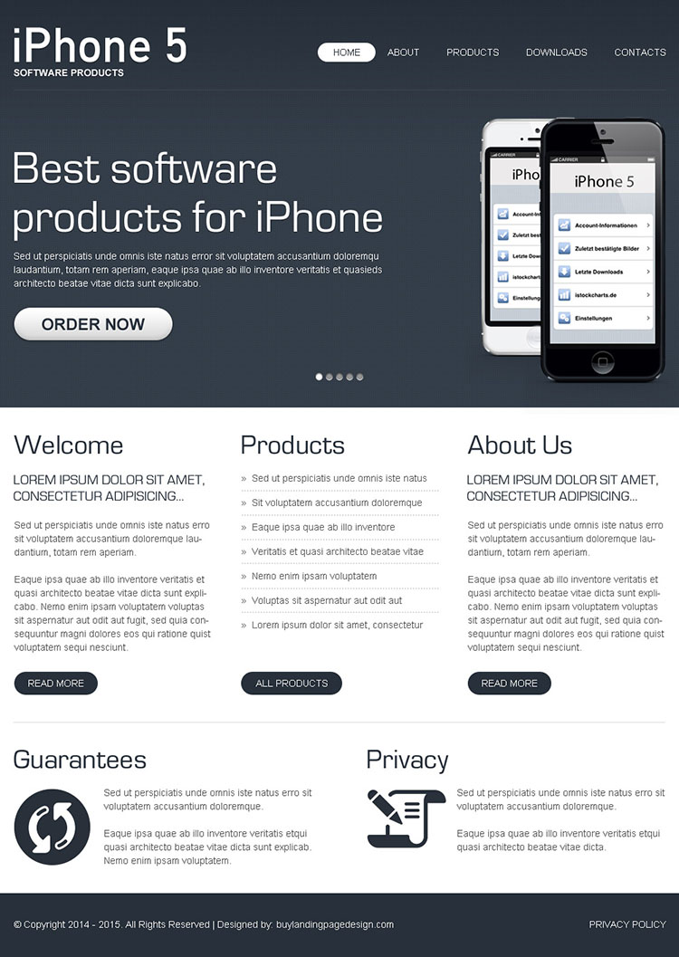 best and converting software html website template