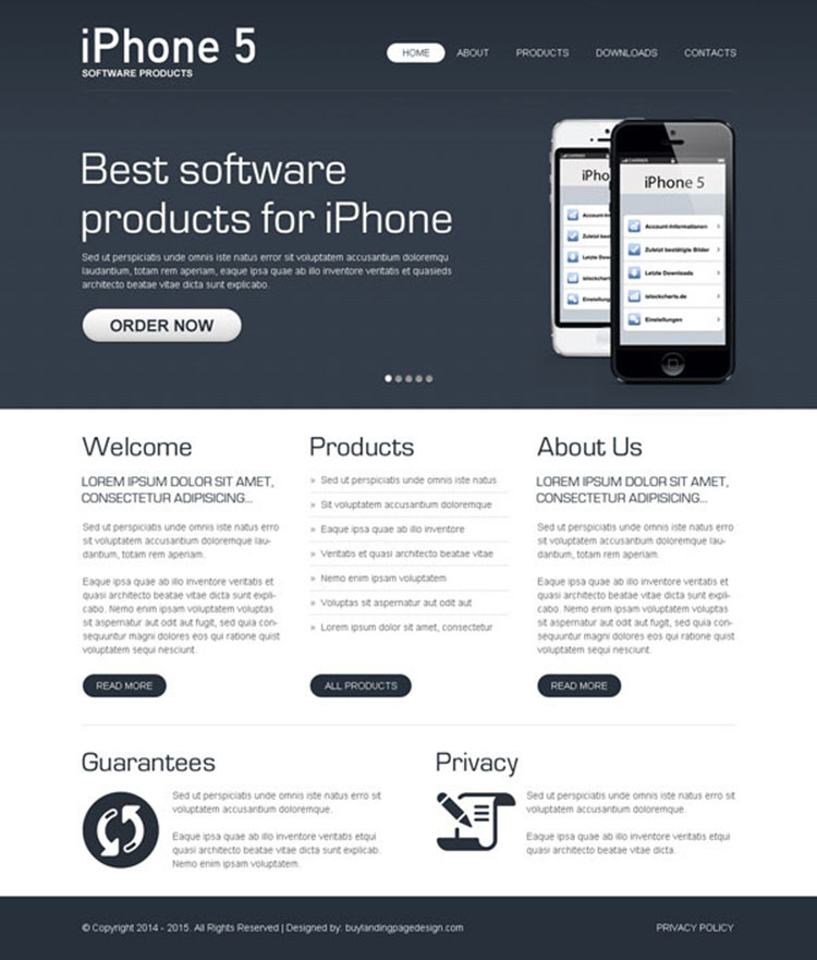 best software product effective website template design psd