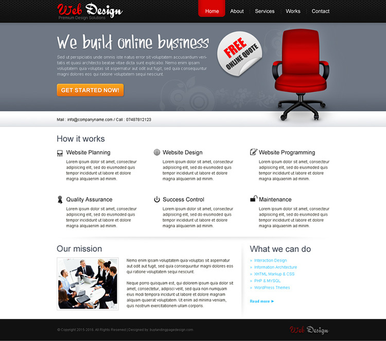 best web design company website template design psd