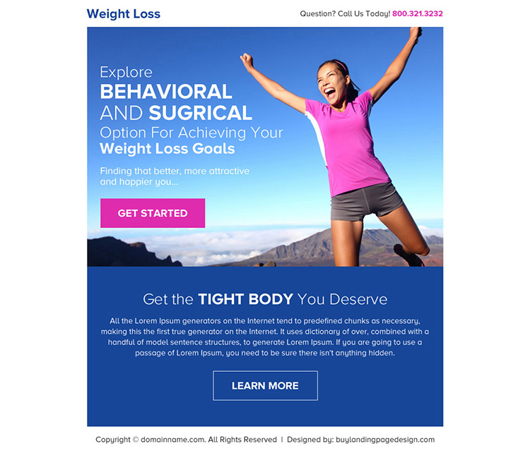 best weight loss goals click through ppv landing page design