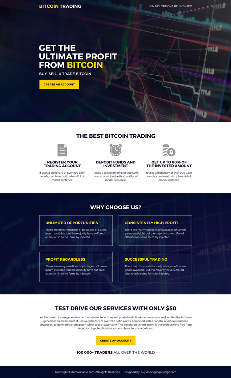 best bitcoin trading sign up capturing landing page design